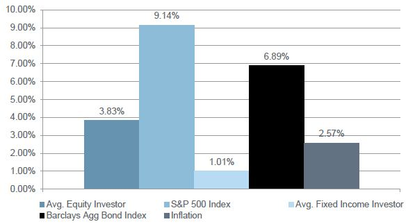 Chart - Annualized Returns for the 20 Years Ended 12/31/2010